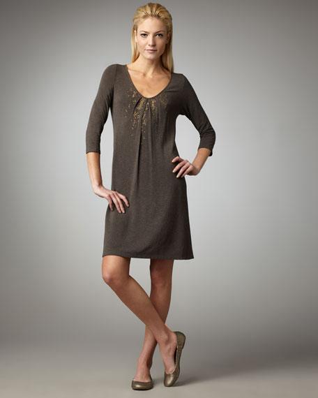Sequined V-Neck Dress, Women's