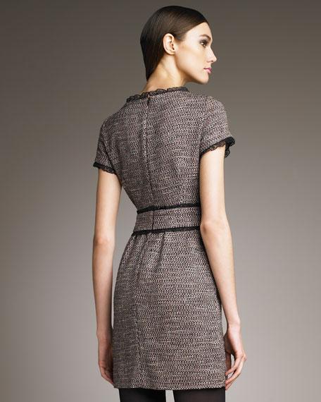 Lace-Trim Banded Dress