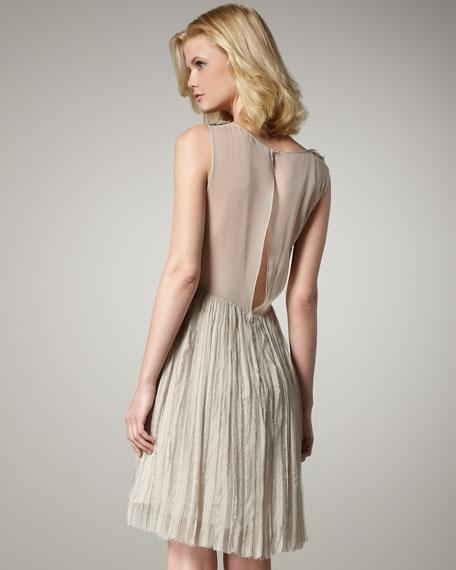 Crinkled Bow Dress