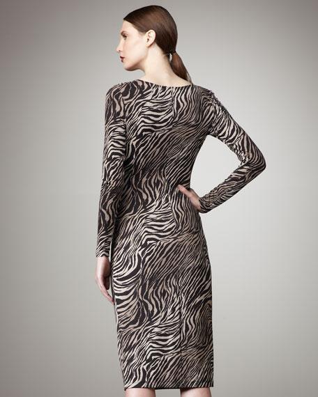 Tiger-Print Dress