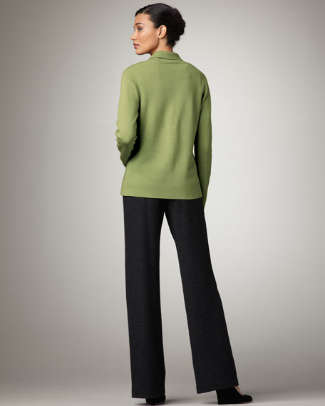Wide-Leg Wool Pants, Petite