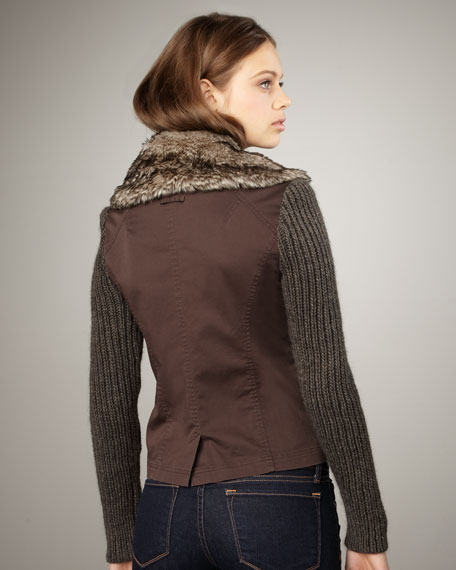 Rib-Sleeve Jacket