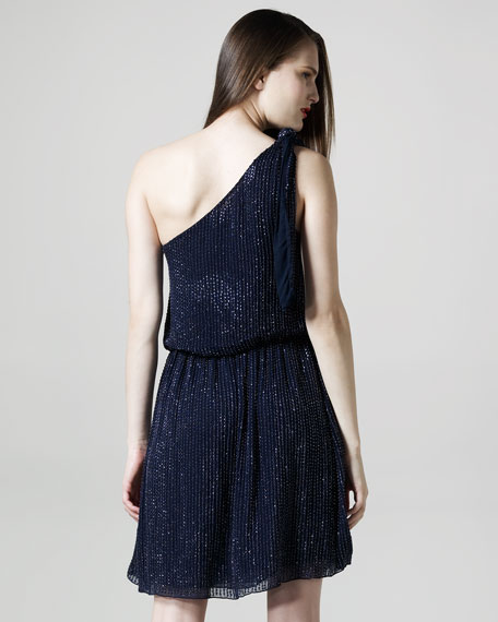 Sade Beaded One-Shoulder Dress