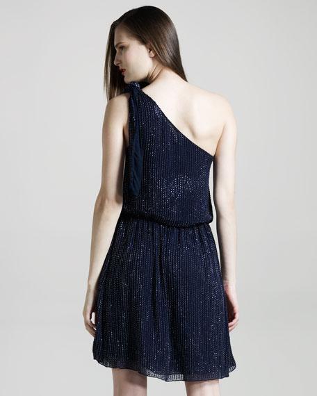 Sade Beaded One-Shoulder Dress