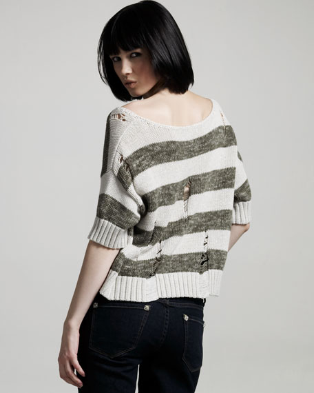 Striped Shred Sweater