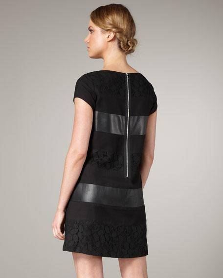 Mix-Media Stripe Dress