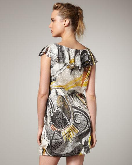 Leopard Burnout Printed Dress
