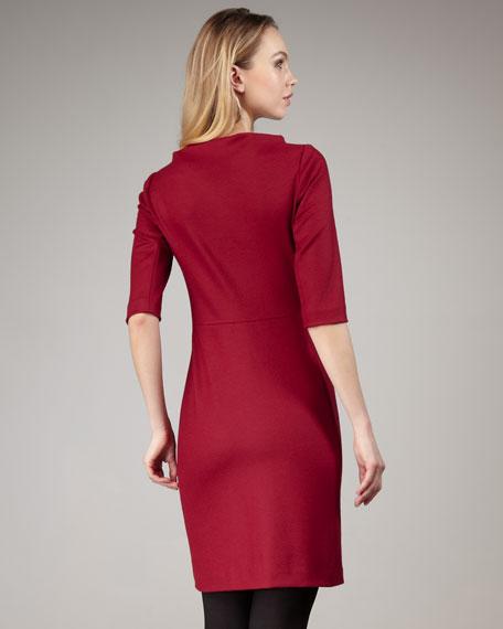 Thandi Half-Sleeve Dress, Cranberry