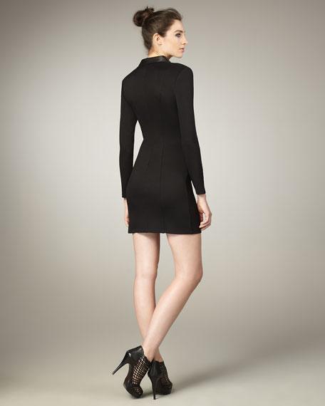 Leather/Ponte Combo Dress
