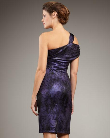 Exposed One-Shoulder Dress
