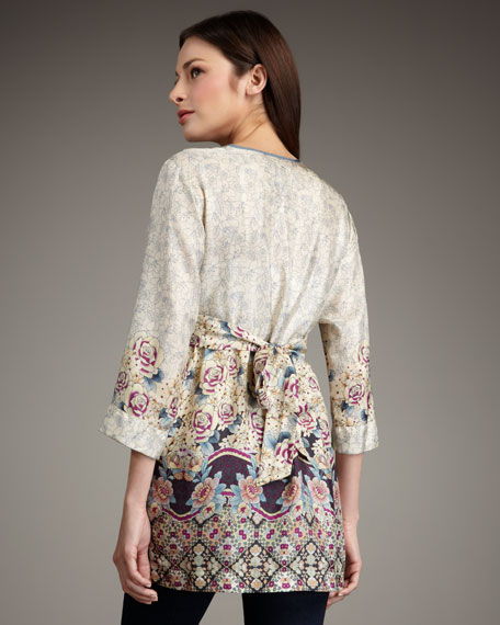 Printed Silk Tunic, Women's