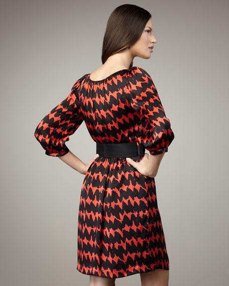 Elisabet Belted Silk Dress