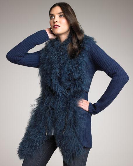 Fur-Front Car Jacket