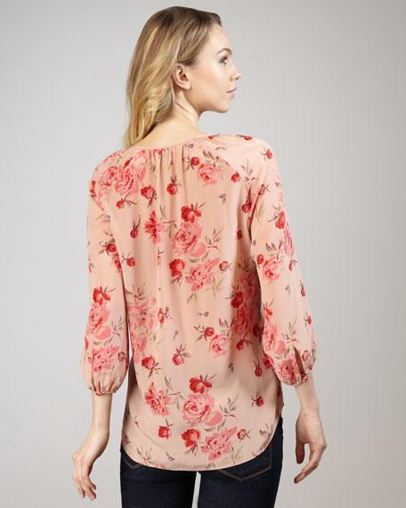 Rose Garden Silk Blouse
