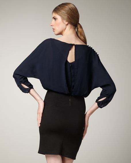 Lisa Colorblock Blouson Dress