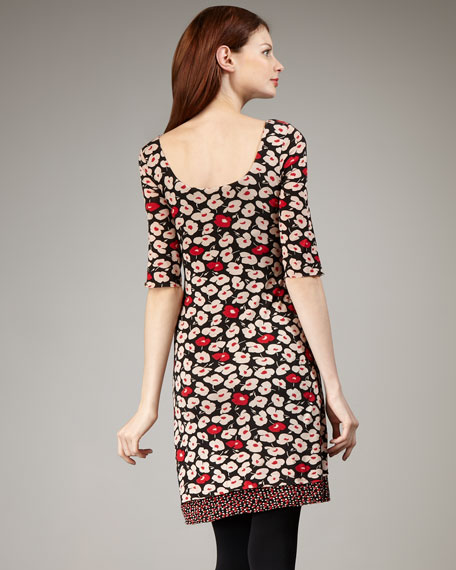 Deja Vu Floral-Print Dress