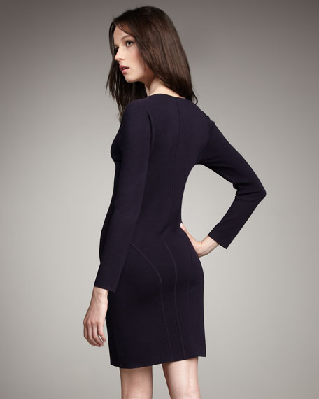 Long-Sleeve Fitted Dress