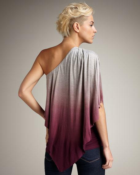Lynda One-Shoulder Ombre Top