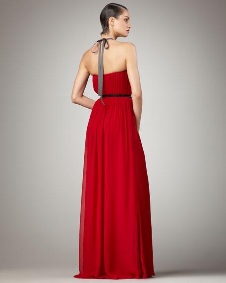 Halter Chiffon Gown