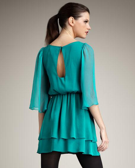 Petunia Bell-Sleeve Dress
