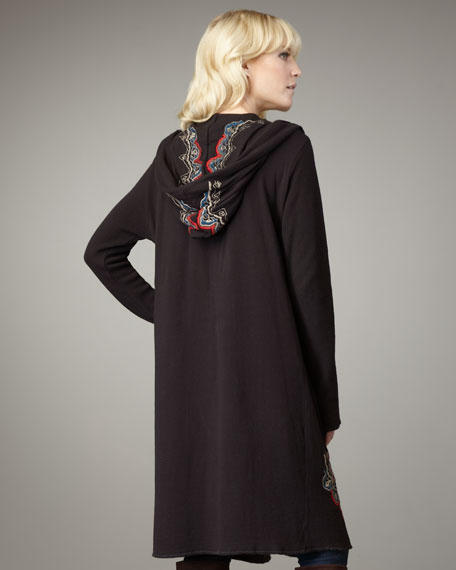 Suri Embroidered Knit Cardigan
