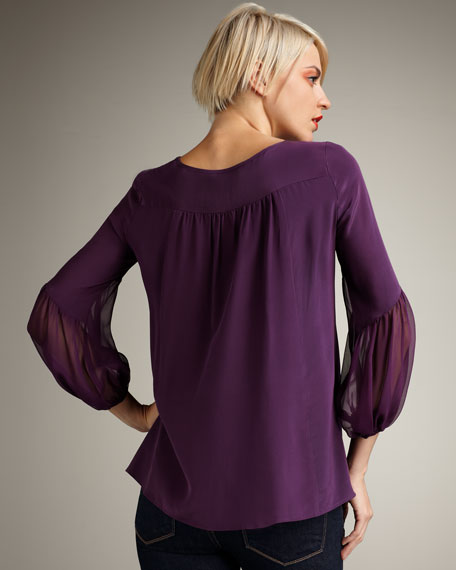 Ingenue Bow-Panel Top