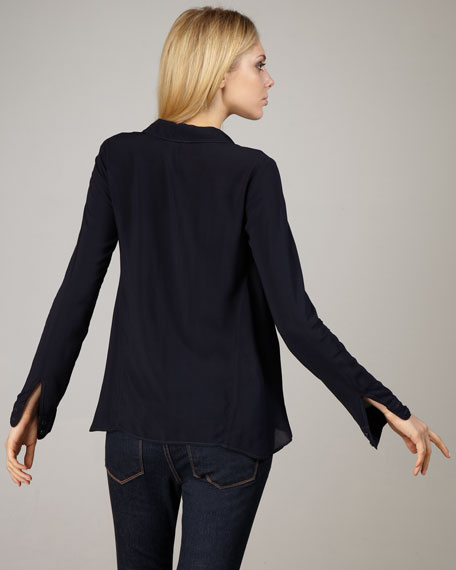 Button-Front Blouse