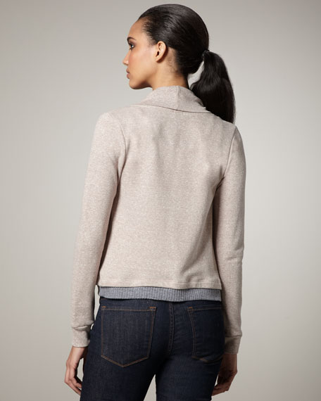Draped Terrycloth Sweater