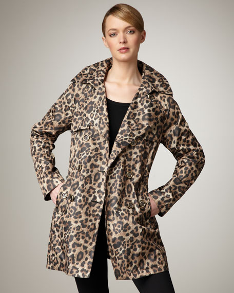 Leopard-Print Trenchcoat