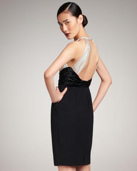 Sequined Halter Dress