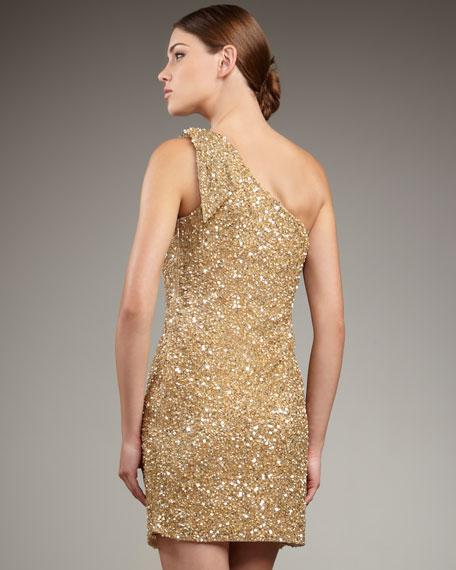 One-Shoulder Sequin Dress