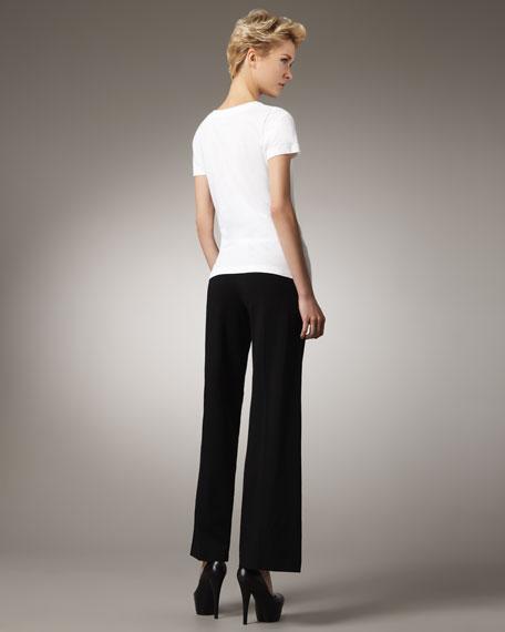 Desiree Ponte Wide-Leg Pants