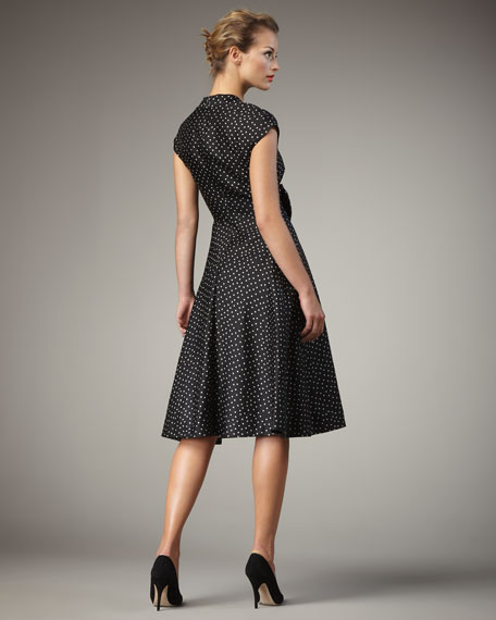 freesia polka-dot dress