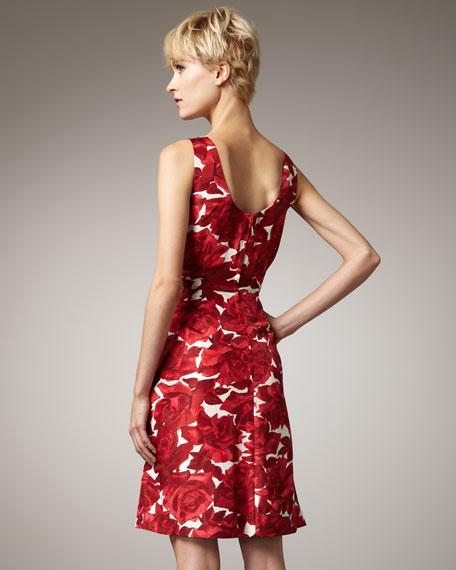 jillian floral-print dress