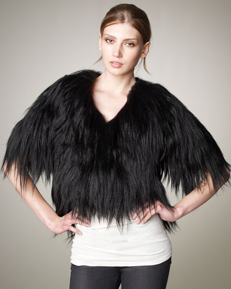 Gretta Cropped Fur Jacket