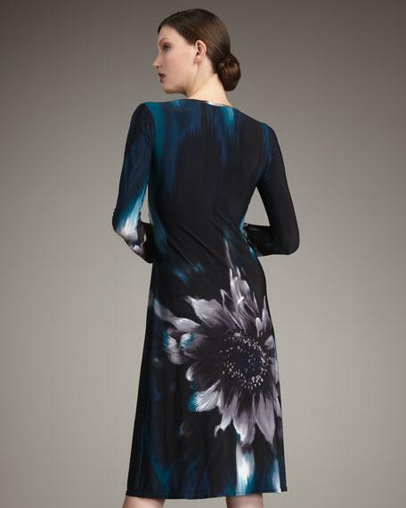 Flower Jersey Dress