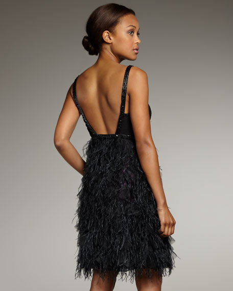 Feather-Skirt Dress