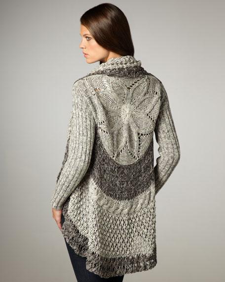 Two-Tone Knit Cardigan