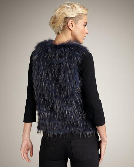 Tie-Waist Fur Vest