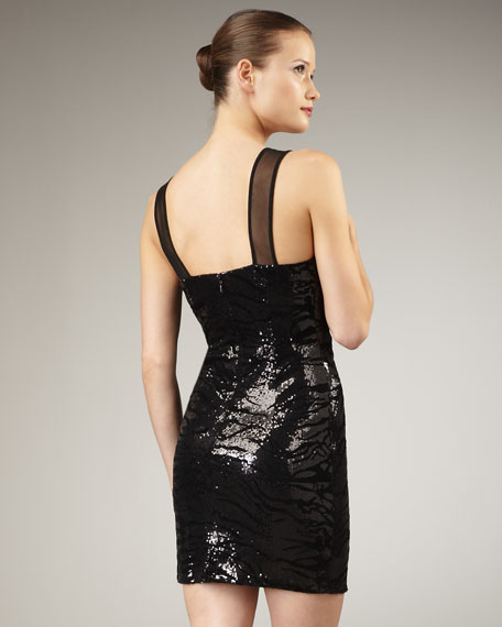 Sequined Bead-Neck Dress