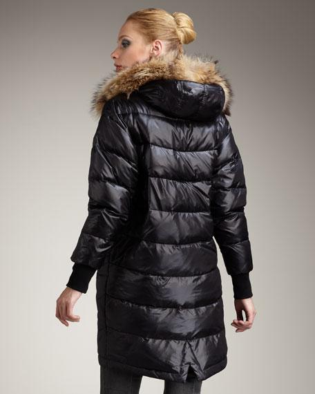 Fur-Trim Puffer Coat
