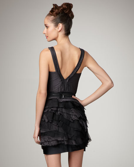 V-Neck Tiered Dress