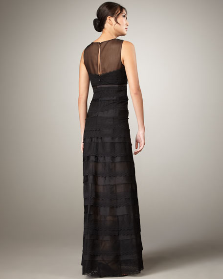 Tiered-Lace Gown