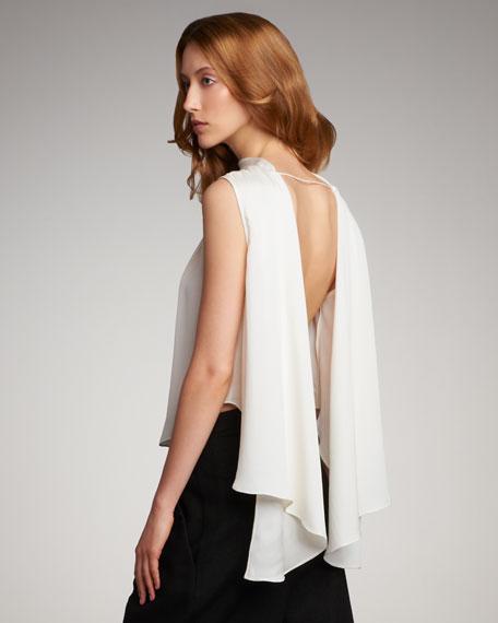 Backless Silk Top