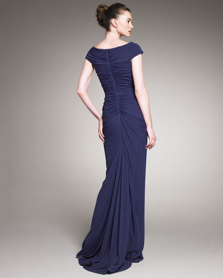 Ruched-Jersey Gown