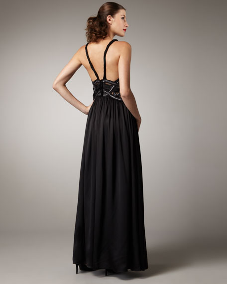 Sleeveless Grecian Gown