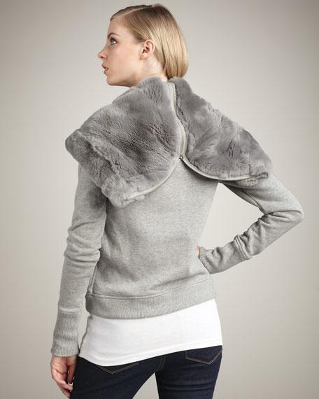 Krish Fur-Trim Hoodie