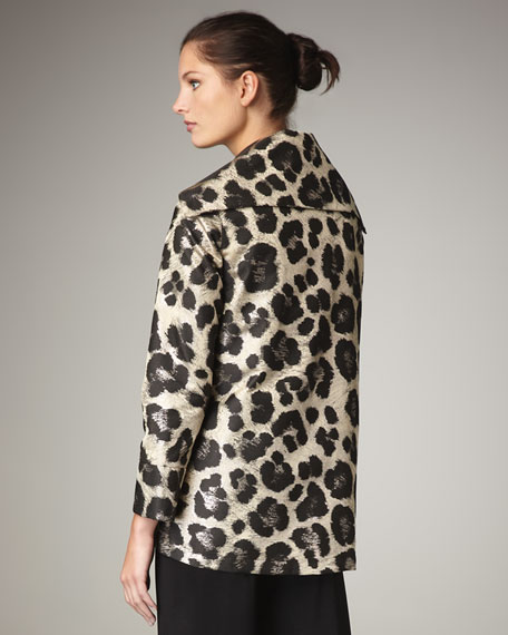 Animal-Print Jacquard Jacket, Women's