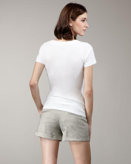 Cady Cuffed Shorts, Gold