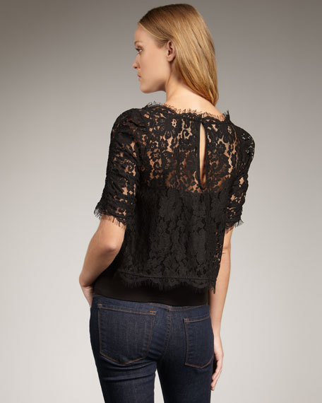 Fanny Cropped Lace Blouse